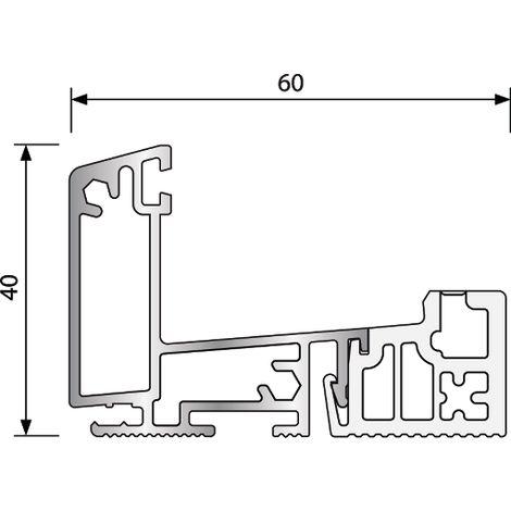 Seuil à rupture de pont thermique BILCOCQ - 60 x 40 mm - R729RT-NA