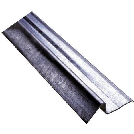 Seuil acier galavanisé pour porte de garage Ht 25 x larg 82 en 3000 mm