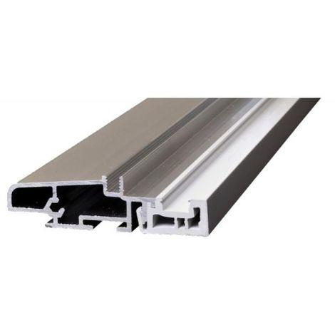 Seuil de porte aluminium à rupture thermique type JSO20-68-RT en 3 ml