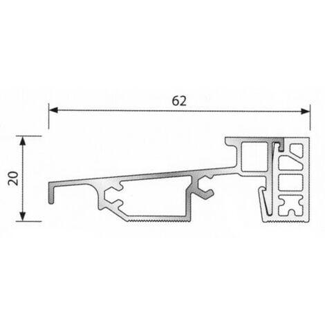 Seuil de porte PVC BILCOCQ 6.03 m - finition alu anodisé - PL62RT-NA