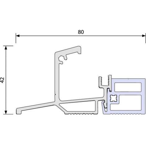 Seuil de portes-fenêtres à rupture en 56 mm, longueur 3 m, référence ISOL56RT