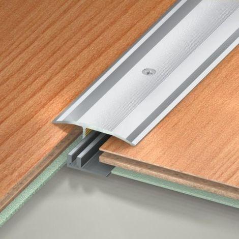 Seuil de rattrapage de niveau petit socle - 48 x 2700 mm finition aluminium naturel