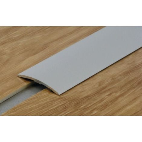 Seuil plat en aluminium anodisé naturel renforcé 40 mm avec adhésif butyl