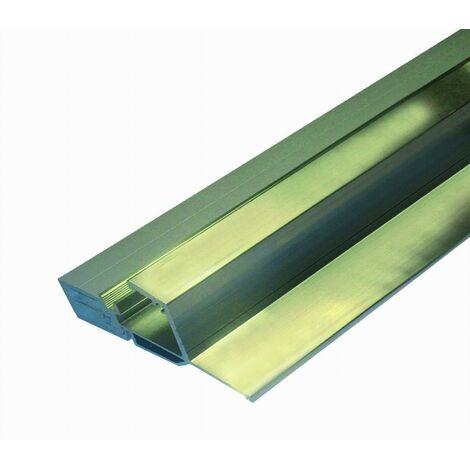 Seuil pour bois à joint sur dormant BILCOCQ - rupture de pont thermique - 42 x 80 mm - aluminium brut - ISOL56RT