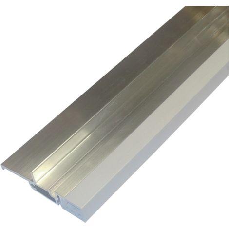 Seuil pour bois à joint sur dormant rupture de pont thermique BILCOCQ - 20 x 76.5 mm - aluminium brut - SP56RT