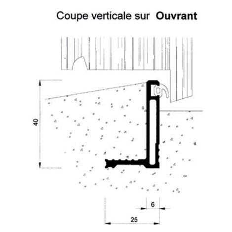 Seuil pour bois porte d'entrée BILCOCQ - 40x 25 mm - anodisé bronze - IPL-BZ