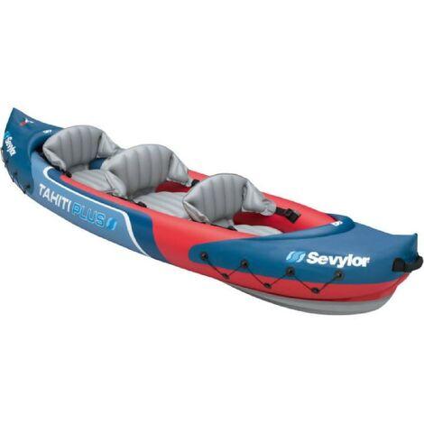 SEVYLOR Kayak Gonflable Tahiti Plus - 3 places - Rouge et Bleu