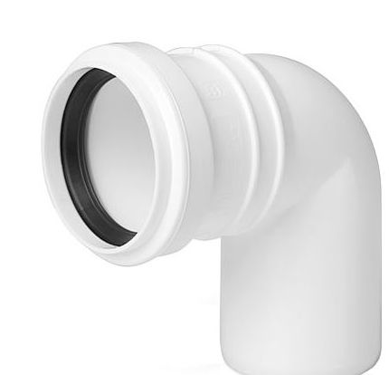Sewage Installation Elbow Connector Joint 50mm Pipe Diameter 90deg Angle