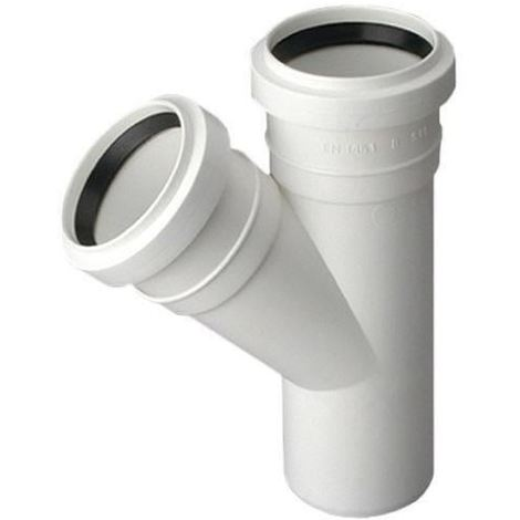 Sewage Installation Tee Connector Joint 40/40mm Pipe Diameter 67deg Angle