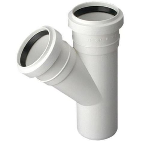 Sewage Installation Tee Connector Joint 50/32mm Pipe Diameter 67deg Angle