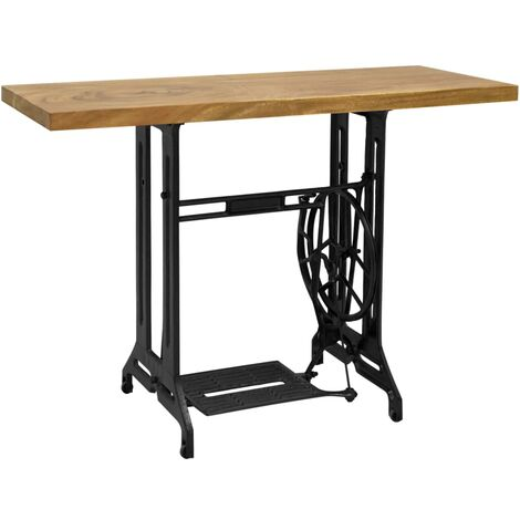 Sewing Machine Console Table 110x40x75 cm - Brown