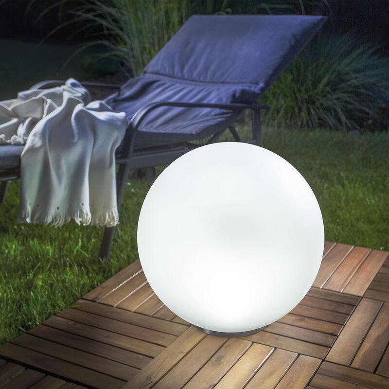 Sfera solare luminosa da 40 cm con regolazione del colore della luce. Lampada solare da giardino, esotec 102611