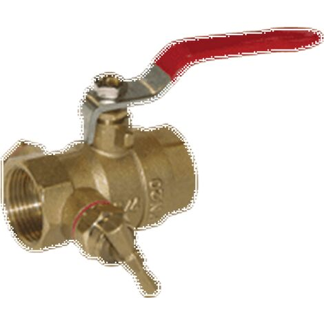 "Sferaco 510007 - Ball valve 1""1/4 33x42 - FF - Brass - A purge - Passage Int"