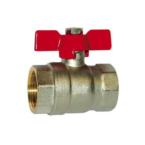 SFERACO ball valve with butterfly valve 20x27 mm - female-female - 83280 X
