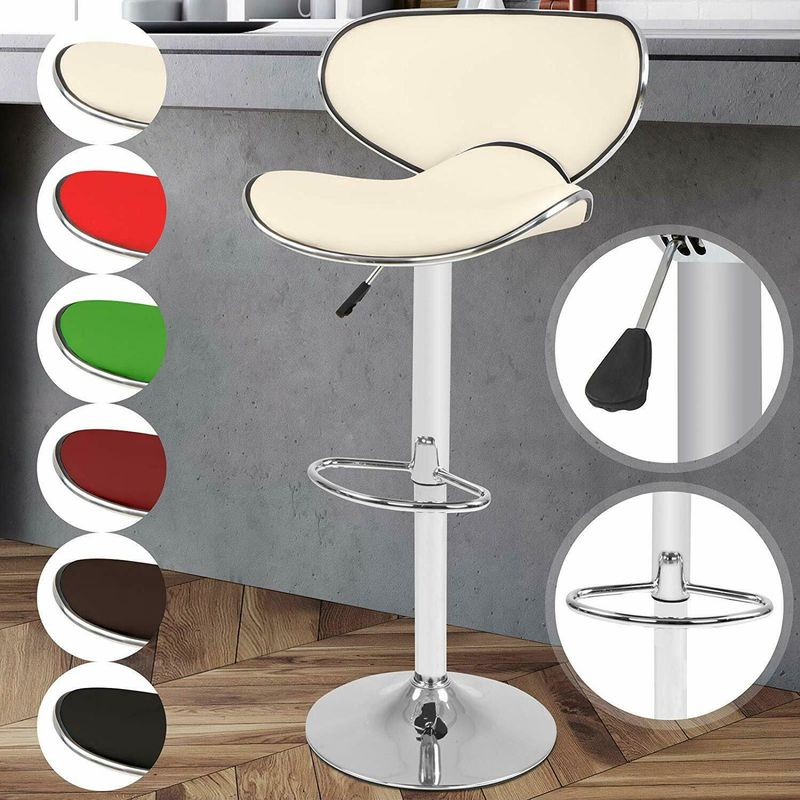 Sgabelli da bar cucina moderni altezza regolabile con rivestimento ...
