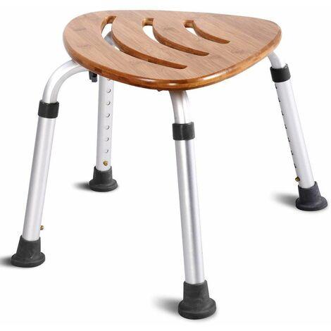PrimeMatik Sgabello per Vasca ergonomico da Doccia Altezza Regolabile Rinforzato