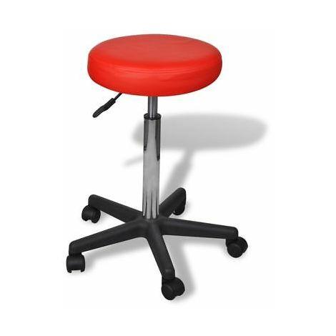 Sgabelli Da Ufficio Regolabili.Sgabello Da Ufficio Rosso Design Semplice E Comodo Altezza Regolabile Con Ruote