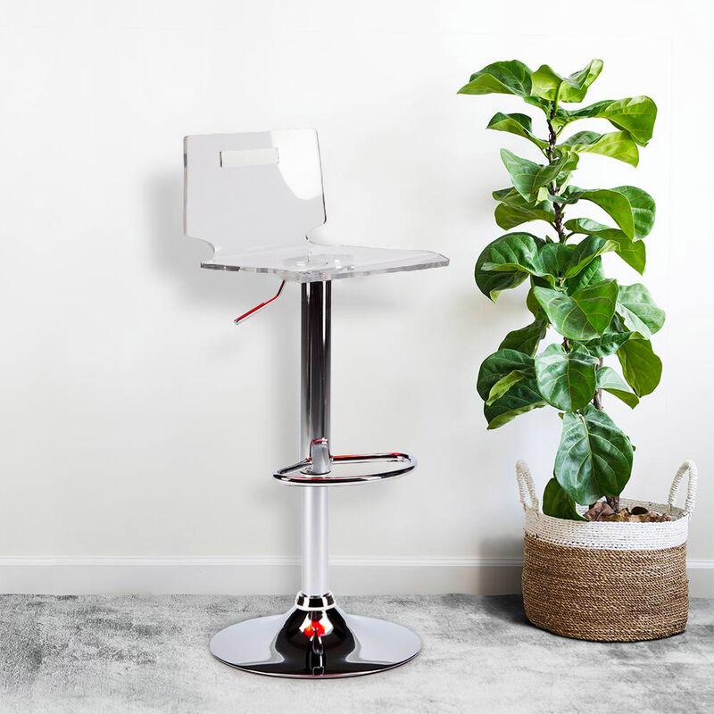Sgabello per bar e cucina acciaio cromato SAN JOSE Design Moderno ...