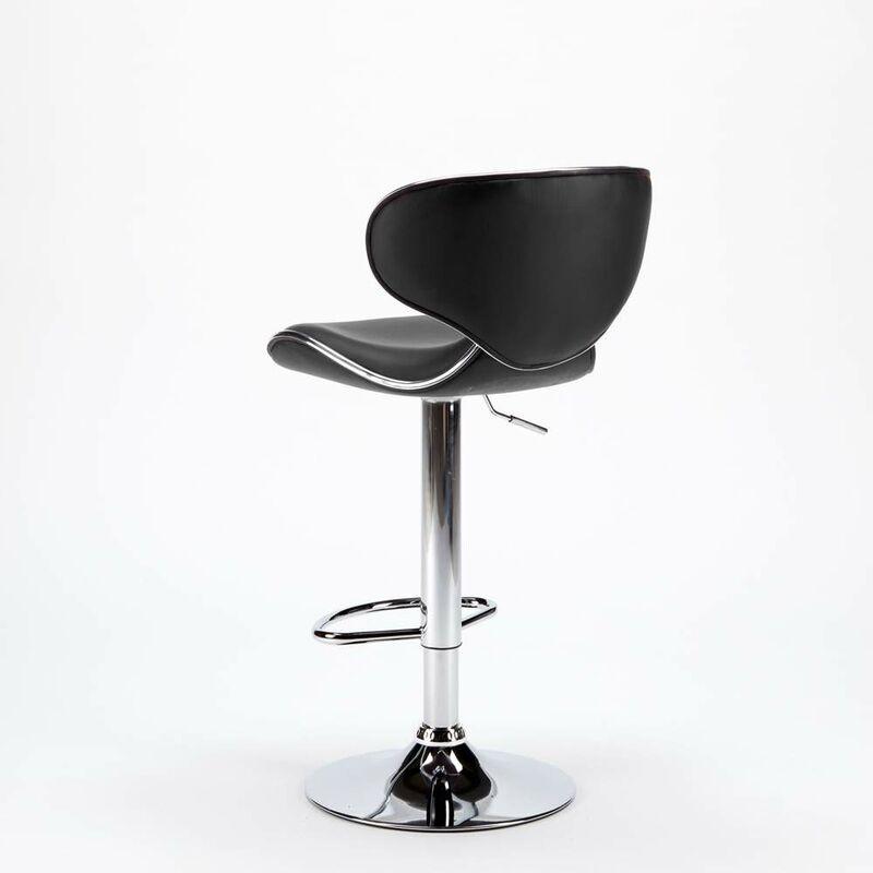 Sgabello per cucina e bar AMARILLO Design Moderno girevole cromato ...