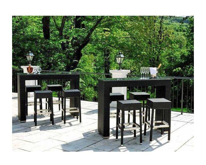 Sgabello per giardino in alluminio e polipropilene altezza cm