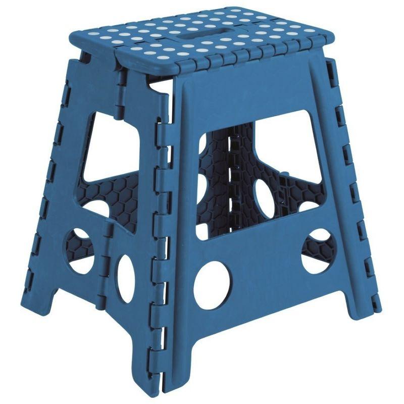 Sgabelli Pieghevoli In Plastica.Sgabello Pieghevole Multiuso In Plastica Blu Cm 39x29 Arregui Tb