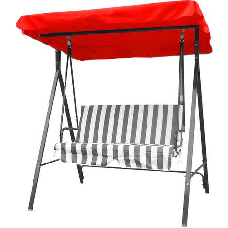 SGODDE 1 pièces 148x185 cm Polyester remplacement chaise Balancoire extérieure auvent pour hamac Balancoire de jardin 3 tailles couverture de rechange rouge rouge