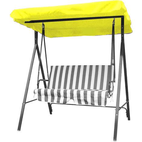 SGODDE 1 pièces 148x185 cm Polyester remplacement chaise Balancoire extérieure auvent pour hamac Balancoire de jardin 3 tailles housse de rechange couleur crème Jaune