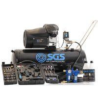 SGS 100 Litre Air Compressor & 71pcs Air Tool Kit