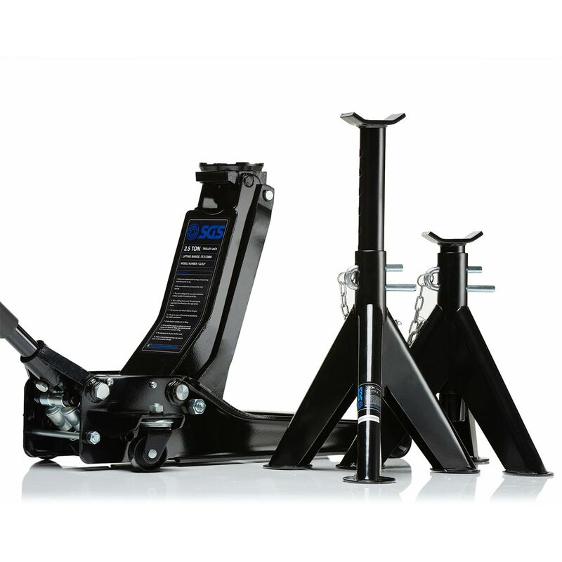 Sgs 2 5 Ton Low Profile Trolley Jack Axle Stands 5055462732155