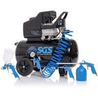 SGS 50 Litre Air Compressor & 5 Piece Tool Kit