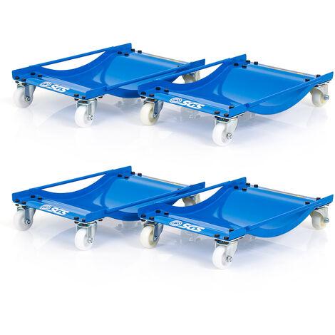 SGS Four Pro Wheel Dollies With Nylon Wheels - 450kg Per Dolly