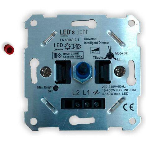 Shada 0190010 Dimmer da incasso Adatto per lampadina: Lampadina LED Alluminio