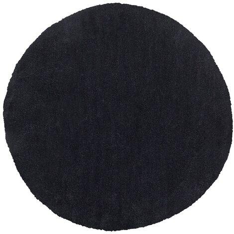 Shaggy Round Area Rug ø 140 cm Black DEMRE