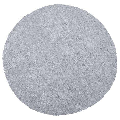 Shaggy Round Area Rug ø 140 cm Light Grey DEMRE