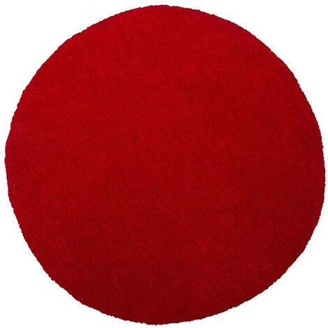 Shaggy Round Area Rug ø 140 cm Red DEMRE