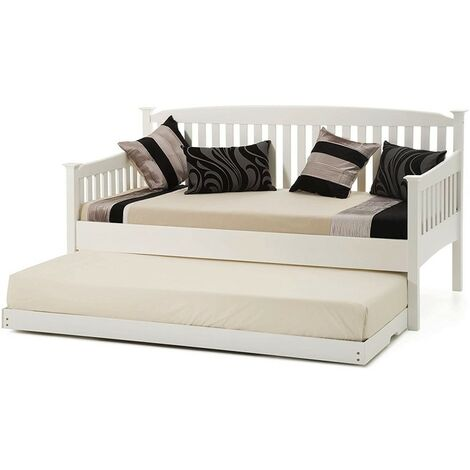 """main image of """"SHAKER STYLE WHITE 3FT SINGLE DAYBED WITH UNDER BED GUEST TRUNDLE , WITHOUT MATTRESSES (WHITE SHAKER DAYBED + UNDERBED TRUNDLE)"""""""