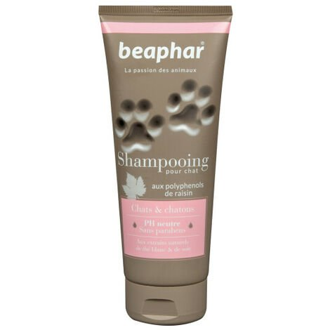 Shampoing naturel pour chats et chatons Beaphar 200 ml