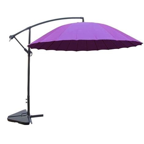 Shanghai violet : parasol déporté et inclinable rond Ø3m