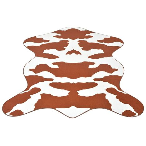 Shaped Rug 150x220 cm Brown Cow Print