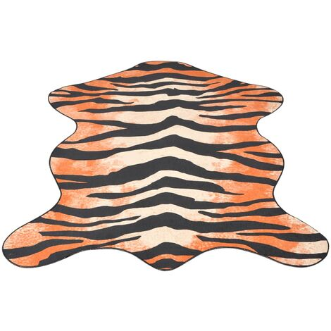 Shaped Rug 150x220 cm Tiger Print
