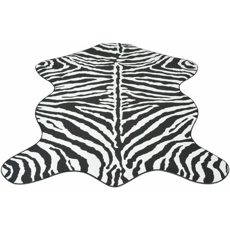 Shaped Rug 150x220 cm Zebra Print