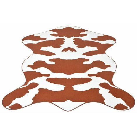 Shaped Rug 70x110 cm Brown Cow Print