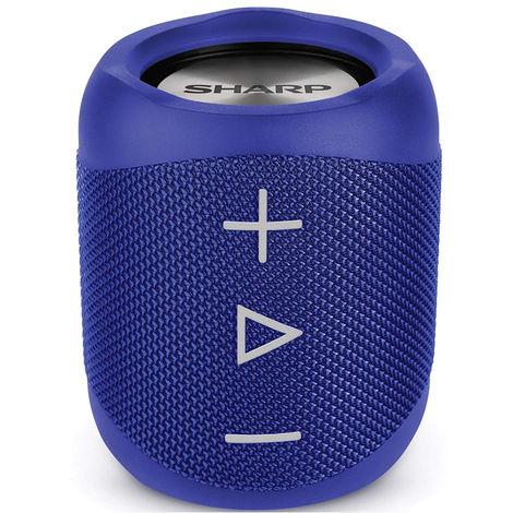 Sharp GX-BT180(BL) Blue 14W Splashproof Rechargeable Portable Bluetooth Speaker