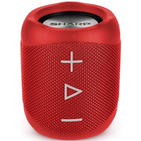 Sharp GX-BT180(RD) Red 14W Splashproof Rechargeable Portable Bluetooth Speaker