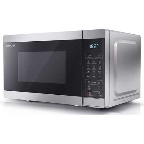 Sharp YC-MG02U-S Silver 20L 800W Microwave with 1000W Grill and Touch Control