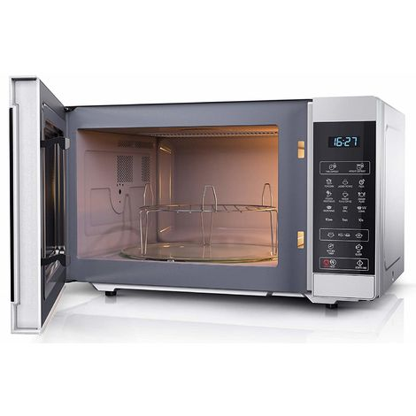 Sharp YC-MG51U-S Silver 25L 900W Microwave with 1000W Grill and Touch Control