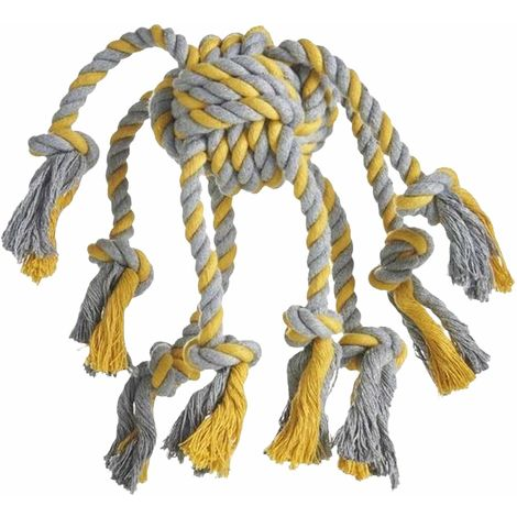 Sharples Rope Octopus Dog Toy (One Size) (Grey/Yellow)