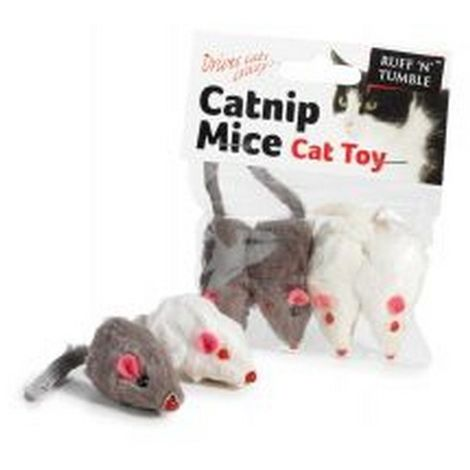 "main image of ""Sharples Ruff ´N´ Tumble Catnip Mice 4 Pack (One Size) (May Vary)"""