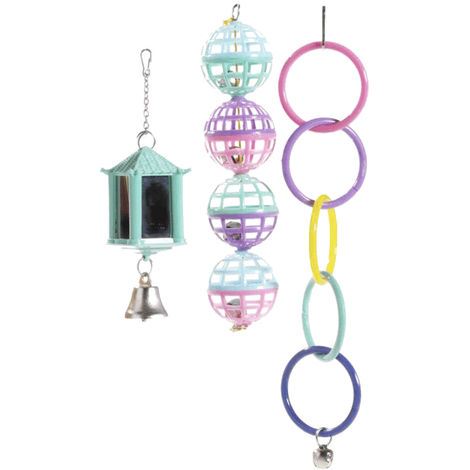 Sharples Ruff N Tumble Mix N Match Bird Cage Accessories (One Size) (Multicoloured)