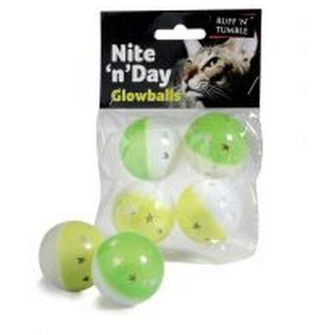 Sharples Ruff ´N´ Tumble Nite ´N´ Day Glow Balls 4 Pack (One Size) (May Vary)